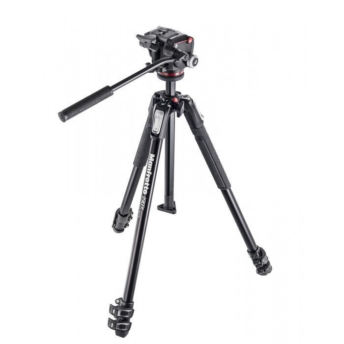 Manfrotto 190X Aluminium 3-Section Tripod With XPRO Fluid Head (MK190X3-2W)