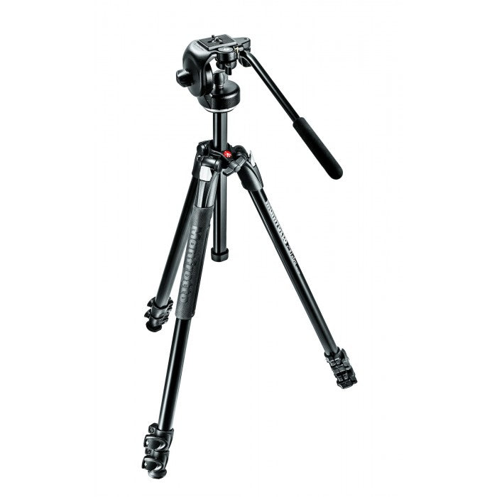Manfrotto 290 Xtra Alu 3-Section Tripod Kit with 128RC Fluid Head (MK290XTA3-2W)