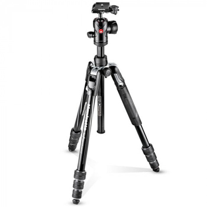 Manfrotto Befree Advanced Travel Aluminum Tripod with Ball Head (Twist Locks, Black)