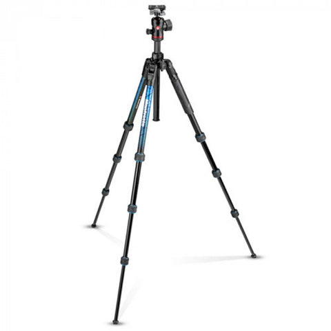Manfrotto Befree Advanced Travel Aluminum Tripod With Ball Head (Twist Locks, Blue)