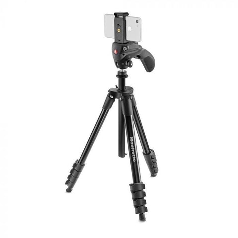 Manfrotto Compact Action Smart Black Tripod