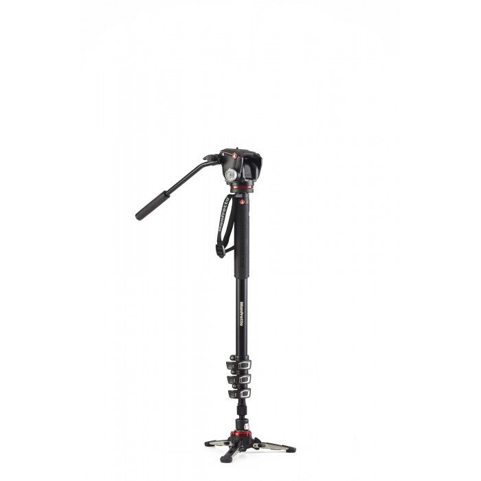 Manfrotto XPRO 4 Section Video Monopod 2 Way Head & FLUIDTECH Base (MVMXPROA42W)