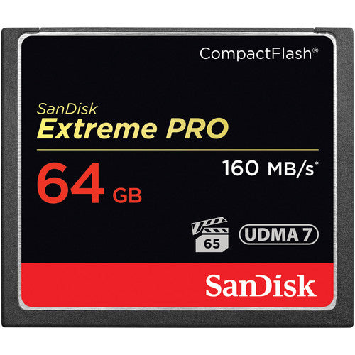 Sandisk Extreme PRO Compact Flash Card 64GB 160mb/s 1067X