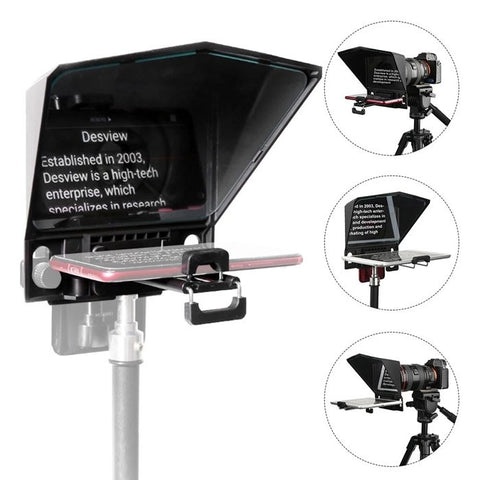 Bestview T2 Teleprompter For Smartphone & IPad/Tablets (Size Below 8 Inches) And SLR Camera