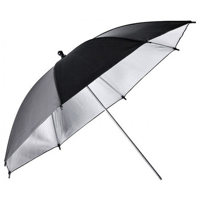 "Godox Black&Silver 40""(101CM), Silver Bounce W/ Black Back Umbrella (UB-002 101CM)"