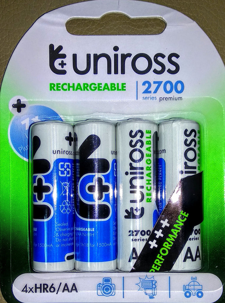 Uniross Performance 4 X AA 2600 Series Rechargeable Batteries