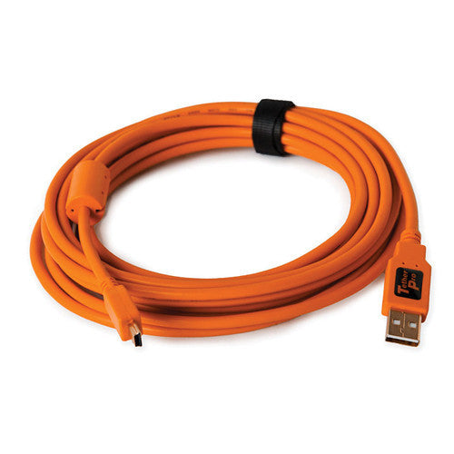 Tether Tools TetherPro USB 2.0 Type-A to 5-Pin Mini-USB Cable (Orange, 15')