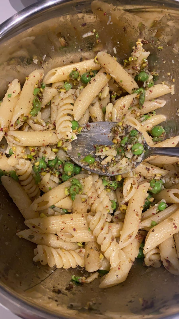 Recipe-The Four P's (Pea and Pistachio Pesto Pasta!)