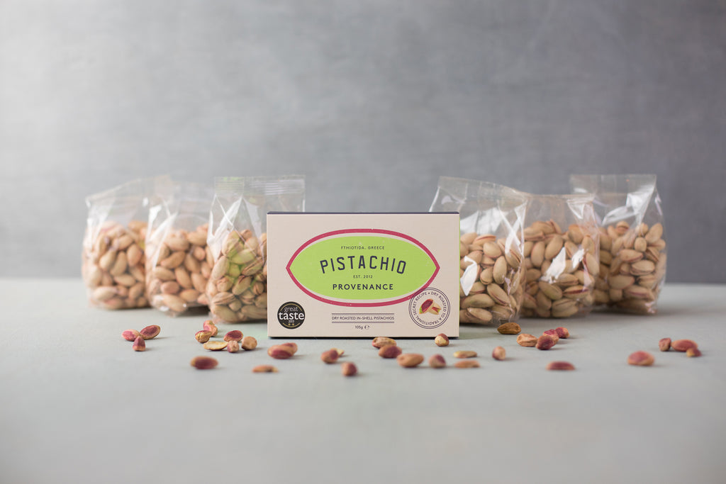 Luxury Pistachio Nut Box with the option to add up to 6 Refill Packs