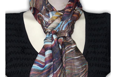 How to identify the genuine silk and silk real scarves.