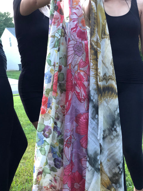 Scarves for women designed in USA | Long scarves | Silk scarves | Modal Scarves | wool sacrves