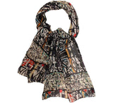 African print modal scarf