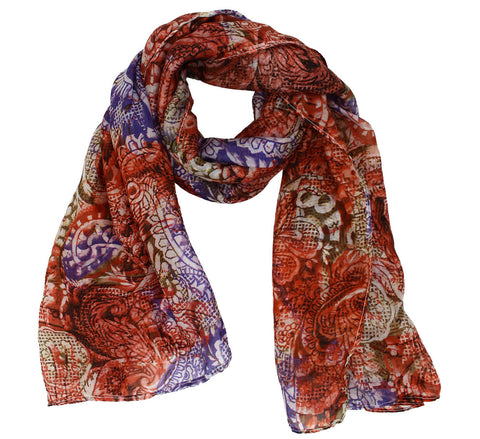 Beau Oblong Silk scarf for women