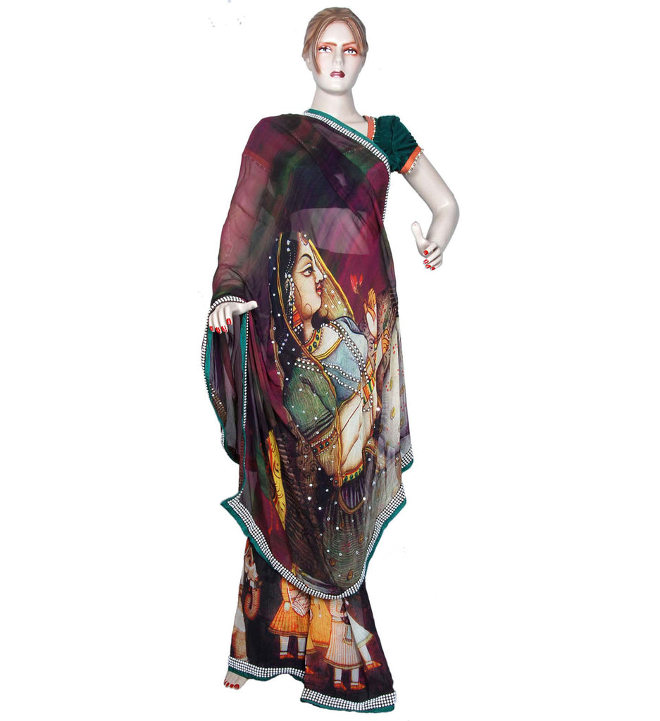 Indian designer silk sari