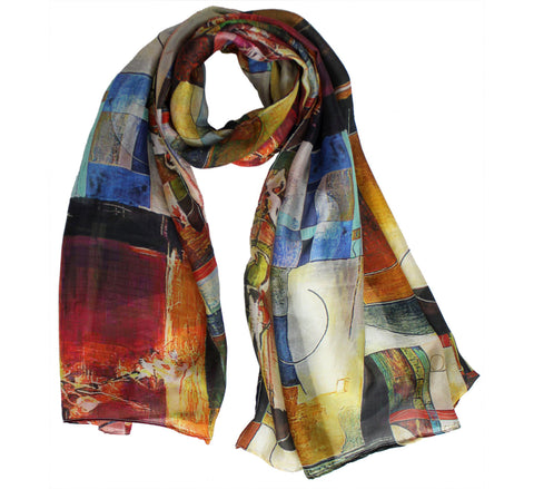 Elegant Silk Scarf | Womens oblong scarves