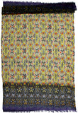 Wool Scarf with Ikat digital print | Full size scarf - Wool Scarves