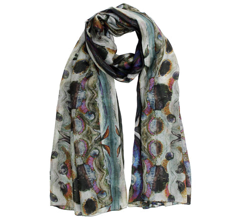 Echo silk scarf | Silk long scarf