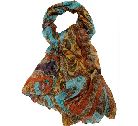 Paisley design scarf | Printed modal scarf