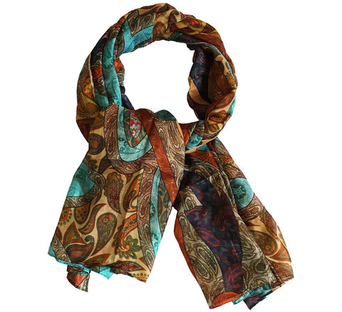Paisley Silk Scarf for women | Luxury silk scarf