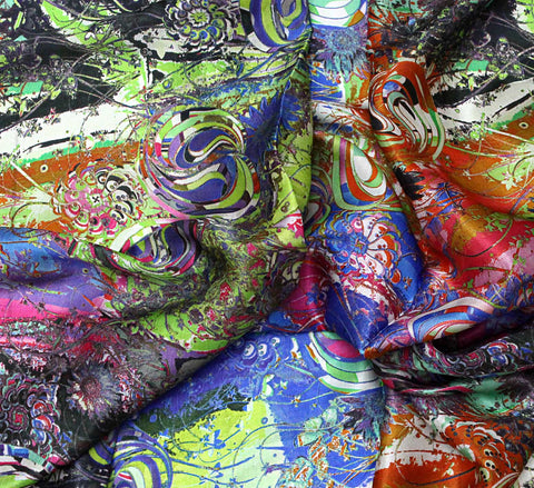 Silk satin fabric by the yard