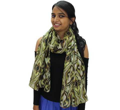 animal pattern scarf | Digital printed silk long scarf