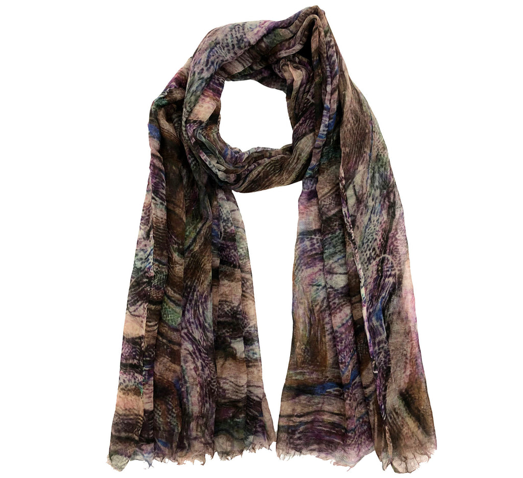 Tartan thin Wool scarf | Cashmere wool | Full size with trimmed edges - Wool Scarves