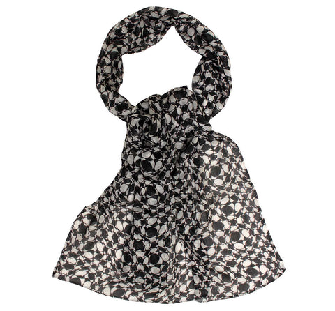 Black and white scarf | Long neck scarf