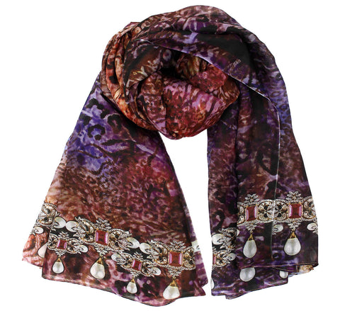 Designer Silk Scarf | Full size neck accessory for women