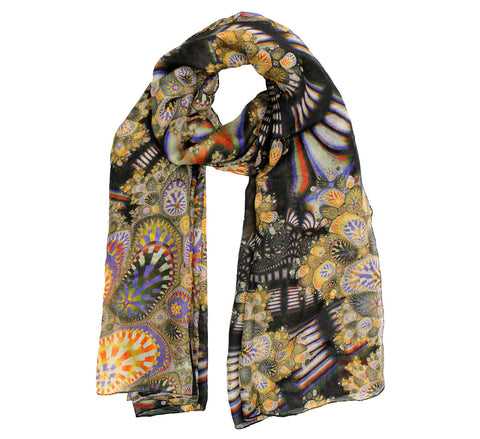 Ladies silk scarves calssic style