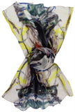 Color wrap Silk Chiffon Scarf - Silk Scarves