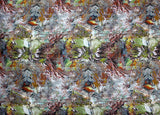 abstract digital print on fabric