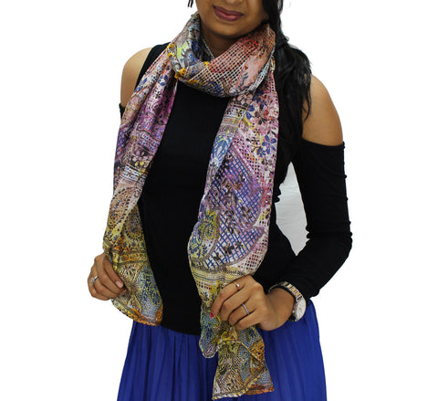 Paisley magic Silk Scarf