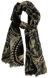 picturesque Wool scarf | Digital printed | Full size - Wool Scarves