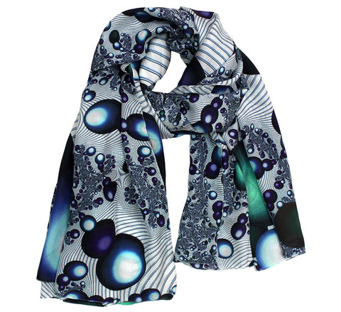 polka dot silk scarf for women