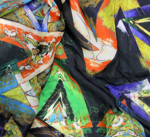 Digital printed woven silk satin fabric