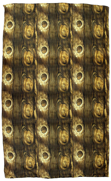 Wood texture long silk scarf