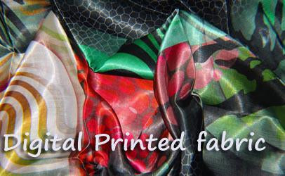 Digital printed fabric - Silk - Wool - Bemberg Georgette - Satin