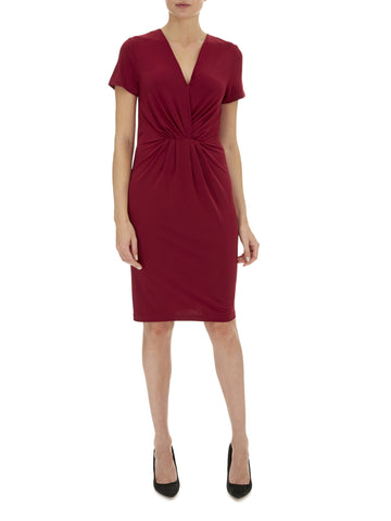 Deep Wine Laci V Neck Dress