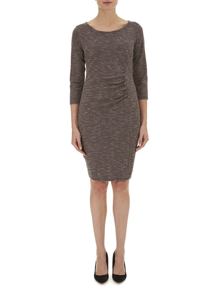 Ruched Detail Jersey Dress - Havren - 1