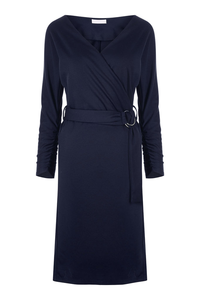 Navy Cassie Wrap Dress