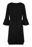 Black Lexi Fluted Sleeve Dress - Havren