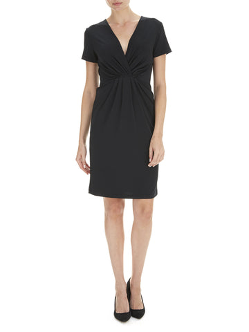 Black Laci V Neck Dress