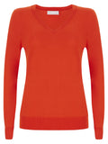Red Burst Lydia V Neck Jumper - Havren - 2