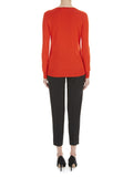Red Burst Lydia V Neck Jumper - Havren - 4