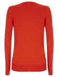 Red Burst Lydia V Neck Jumper - Havren - 3