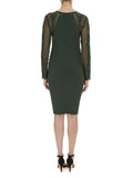 Forest Green Paige Lace Sleeve Dress - Havren - 4