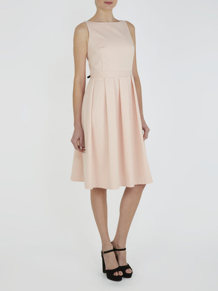 Nude Pink Ciara Bow Back Dress - Havren