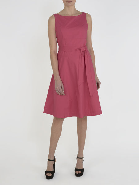 Hot Pink Zara Cotton Belt Dress - Havren