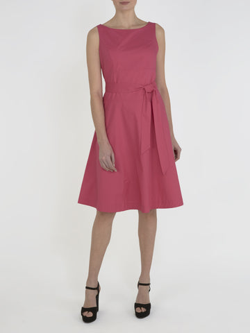 Hot Pink Zara Cotton Belt Dress
