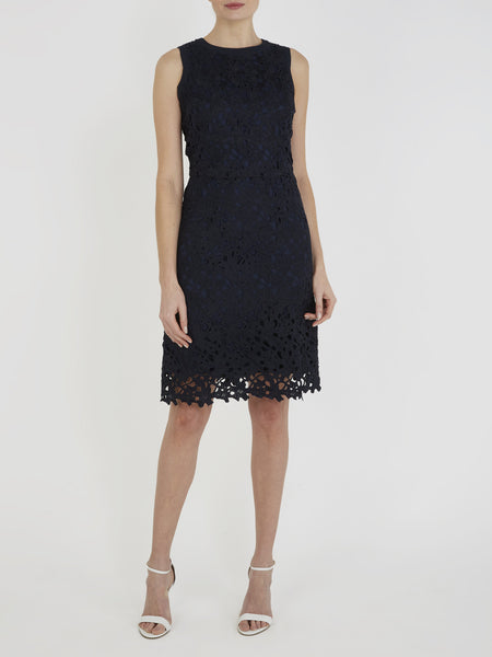 Dark Navy Abby Lace Dress - Havren